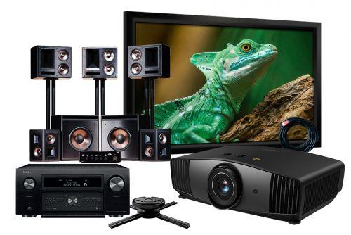 BenQ W5700 4K UHD Projector Denon AVC-X8500H Amplifier Klipsch THX Ultra2 5.2 Speakers & Screen Complete Home Theatre Package