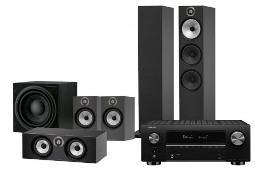 Denon AVC-X3700H Amplifier and Bowers & Wilkins 603 S2 Speakers 5.1 Home Theatre Package
