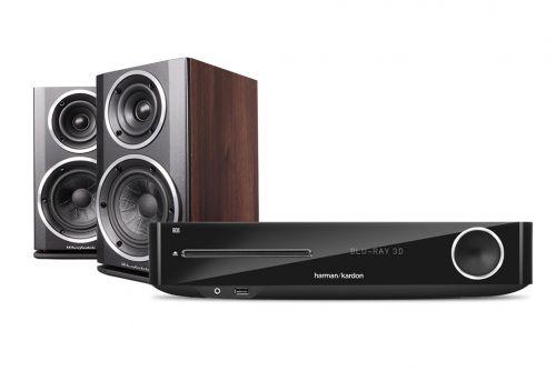Harman Kardon BDS 277 Digital Amplifier & Wharfedale Diamond 121 Speakers Hi-Fi Stereo System