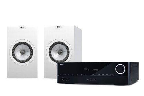Harman Kardon HK 3700 Receiver & KEF Q350 Speakers Hi-Fi Stereo System
