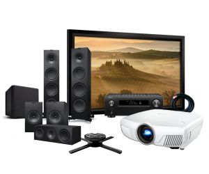 Epson EH-TW8300 4K Projector, Denon AVC-X6500H 11.2 AV Amplifier KEF Q950 Speakers and Screen Complete Home Theatre System