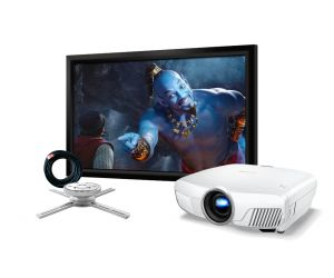 Epson EH-TW8300 3D Full HD Projector with 4K Enhancement and Screen Package