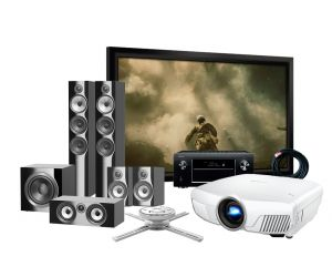 Epson EH-TW8300 4K Projector, Denon AVR-X4500H, Bowers & Wilkins 704 S2 Speakers and Elegance Screen Complete Home Theatre Package