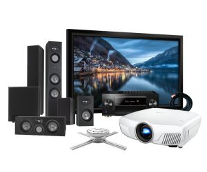 Epson EH-TW8300 4K Projector, Pioneer VSX-LX503 Receiver, Infinity by Harman Ultimate R100 Reference Speakers and Elegance Screen Home Theatre Package