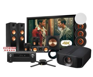 JVC DLA-N7 4K Projector Denon AVR-X4500H Klipsch RP-280F2 Speaker System and Screen Complete 5.1.4 Atmos Home Theatre Package