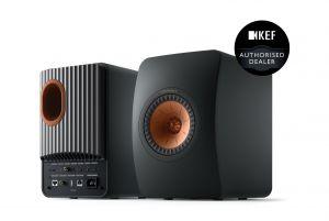 KEF LS50 Wireless II Mini Monitor Active Bookshelf Speakers Pair | AirPlay 2 | Chromecast | MQA | DSD