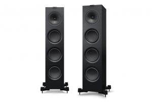 KEF Q750 Premium Concentric Floorstanding Speakers with Hybrid Sealed/Bass Reflex Design (Pair)